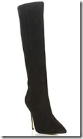 Dune pointed toe black suede boot