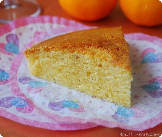 Orange cake slice-1