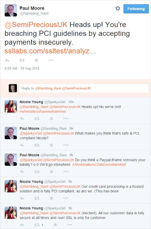 Twitter debate on site security