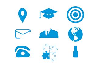 Resume Phone Icon Blue