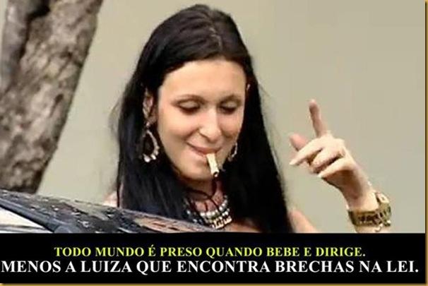LUIZA BEBADA - menos a Luiza brechas na lei