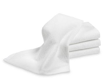 These bar mop towels from Williams-Sonoma (williamssonoma.com) are perfect for most cleaning jobs.
