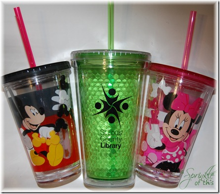 Personalized Disney Cups Before {A Sprinkle of This . . . . A Dash of That