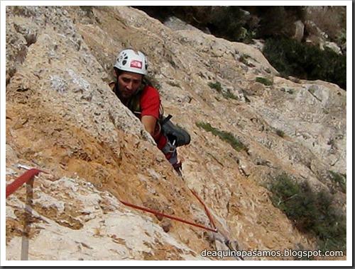 Via Costa Blanca 250m 6c  (6b A0 Oblig) (Peon de Ifach, Alicante) (Fran) 4806