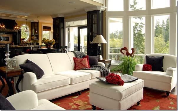 innovative-american-style-living-room-white-sofas