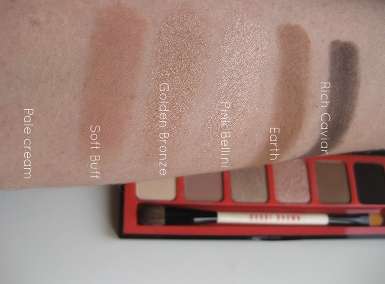 Bobbi-Brown-Nectar Nude-Eye-Palette-swatches