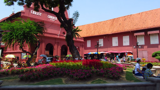 Dutch Square and Christ Church showcase Malacca's colonial past.