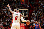 lebron james nba 130125 mia vs det 03 Boston Outlasts Miami in 2nd OT. LeBron Debuts Suede X PE!