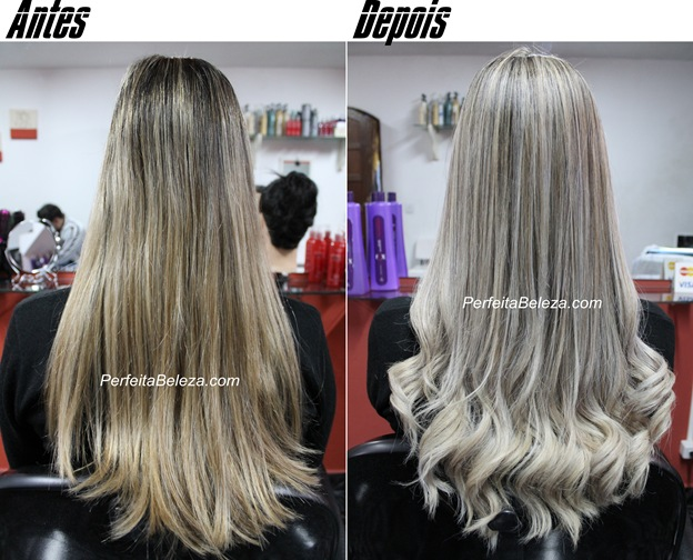 cabelo loiro com as pontas claras