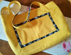 Reversible Bag - Yellow & Black