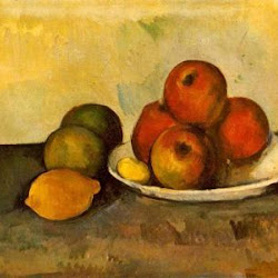 Paul Cezanne (1890):Still Life with Apples. Museo del Hermitage. San Petersburgo. Postimpresionismo