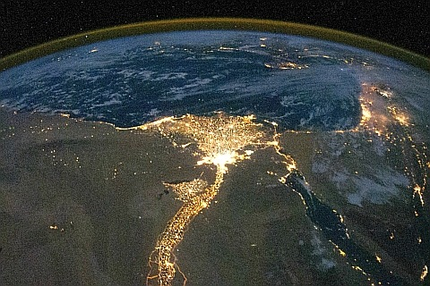 Река Нил ночью