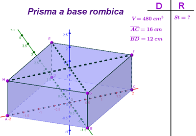 prisma retto base rombo