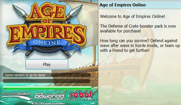 Lançador do age of empires online.