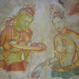 Frescos inside the caves.
