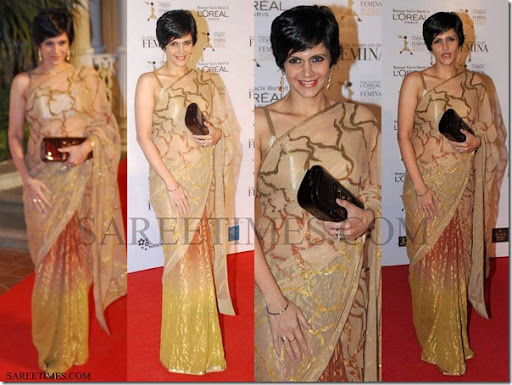 Mandira Bedi Hot In Sleeveless Sarees
