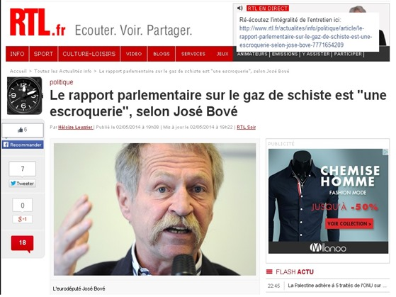 rapòrt parlamentari francés gaz de sistre
