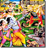 [Rama and army defeating Ravana]