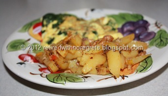 Dirty Potatoes Breakfast Skillet - served