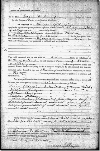 BURGESS_Elizabeth_Probate and will_1884-1885_Detroit_Wayne_Michigan_Page_02