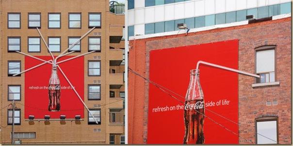 Publicités sur immeubles-coca-cola