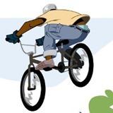 Corrida de obstáculos de bicicleta