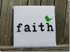 Paper Pieced Faith Canvas