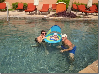 17.  Lynn, Knox and Logan in the pool