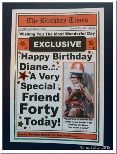 Its all fiddle fart newspaper card for hairdressers 40th birthday hairdressers newpaper birthday card bookmarktalkfo Choice Image