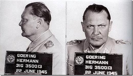 Hermann Goering, giudicato colpevole di crimini contro l'umanità al