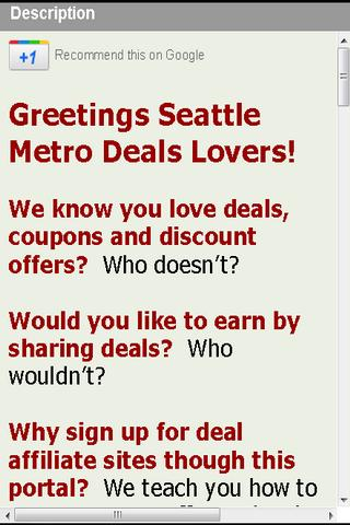 Deals Seattle Earn RewardsCash