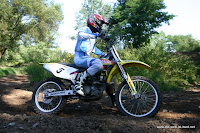 Conny riding her Suzuki RMZ250 MX bike