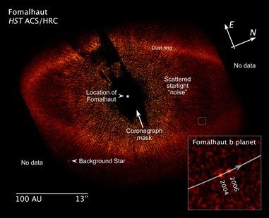imagem feita pelo Hubble do anel ao redor de Fomalhaut