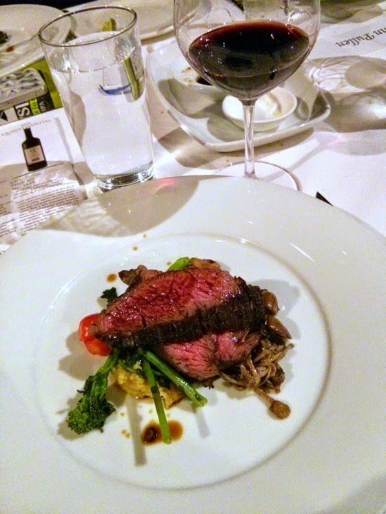 Bavette of Elk with Church & State 2009 Quintessential