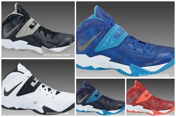 Nike Zoom Soldier VII in 5 Different Team Bank Colorways