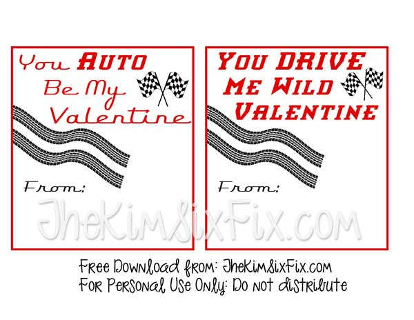 Free Car Valentine Printable