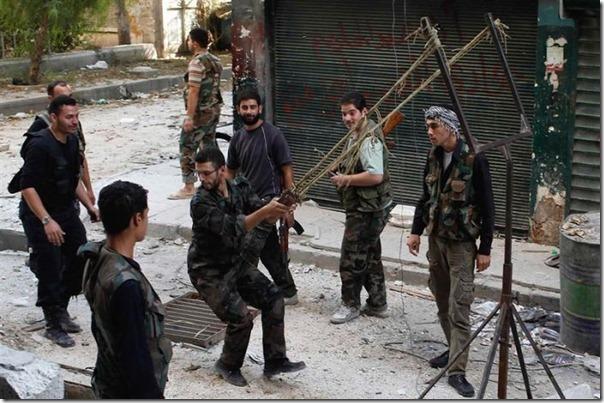 Lançador de granadas dos rebeldes sirios (1)