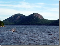 Jordan Pond with the Bubbles in the background