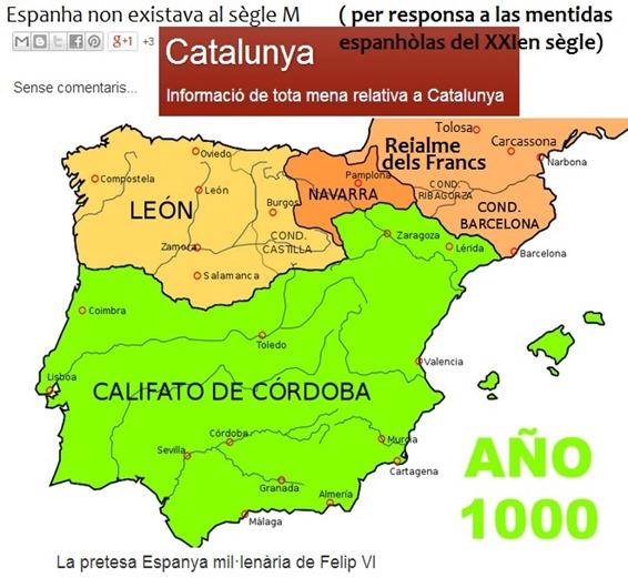 mapa de l'an Mila de la península iberica