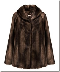 Dark Brown Mid Length Faux Fur Jacket
