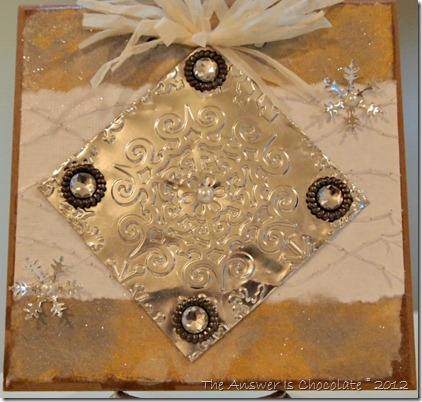 Embossed Metal Snowflake Tile
