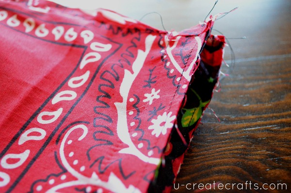 Drawstring Bandanna Backpack Tutorial Step 27