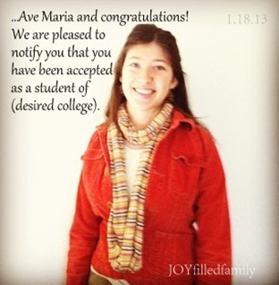 Rose - college acceptance JOY