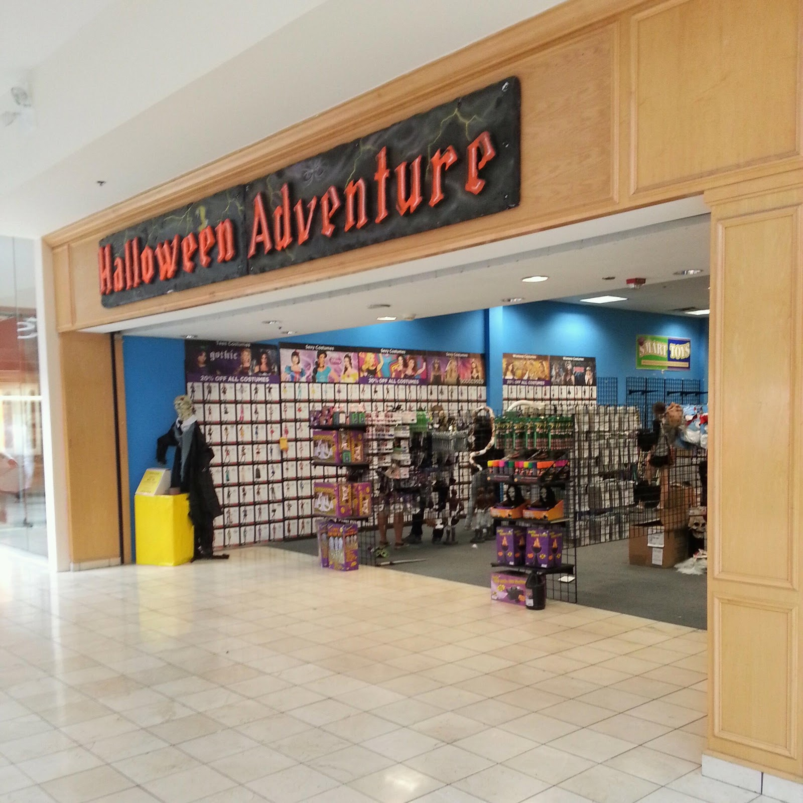 but halloween adventure has returned at bethesdas westfield montgomery mall this year selling costumes props decorations and more for your halloween - Halloween Adventure Store
