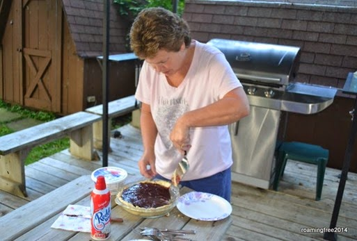 Deby made raspberry cream pie for dessert
