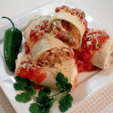 Cilantro Lime Pork Roll Ups With Caramelized Onions