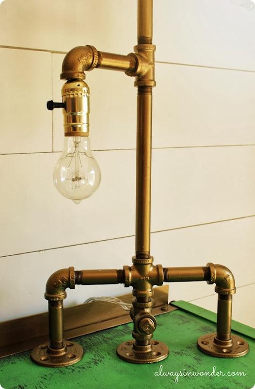 diy industrial pipe lamp base