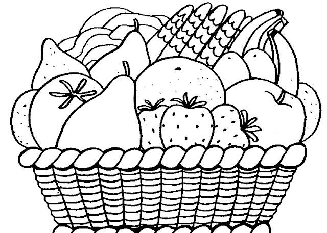 Moderno Páginas Para Colorear Imprimibles De Cestas De Fruta Imagen ...