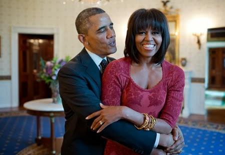 Michelle e Barack Obama nella Sala Blu della Casa Bianca, 17 gennaio 2013.