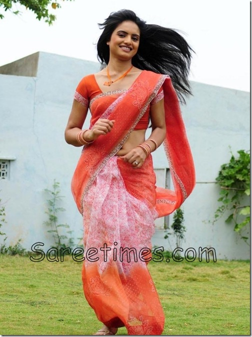 Ritu_Kaur_Orange_Saree